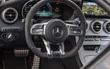 Mercedes-AMG C43 2018 first drive review steering wheel