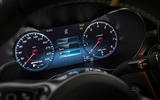 Mercedes-AMG C63 2018 first drive review instrument cluster classic mode