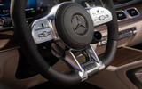 Mercedes-AMG GLS 63 2020 first drive review - steering wheel