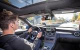Mercedes-Benz C-Class C 300de estate 2018 first drive review - Simon Davis driving