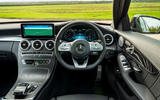 Mercedes-Benz C300e 2020 UK first drive review - steering wheel