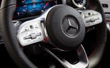 Mercedes-Benz CLA 250 2019 UK first drive review - steering wheel