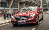 Mercedes-Benz E300e 2019 UK first drive review - on the road front