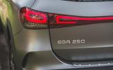 8 Mercedes Benz EQA 2021 UK first drive review rear lights