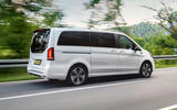 8 Mercedes Benz EQV 2021 LHD first drive review on road rear