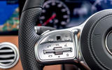 Mercedes-Benz S560 Coupe 2018 UK review steering wheel buttons