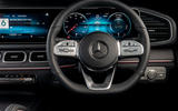 Mercedes-Benz GLE 400d 2019 UK first drive review - steering wheel