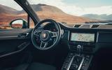 Porsche Macan 2019 first drive review - dashboard