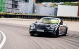 Porsche Taycan 2020 first drive review - track drifting