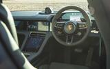 Porsche Taycan 4S 2020 UK first drive review - steering wheel