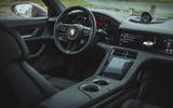 8 Porsche Taycan RWD 2021 UK first drive review cabin