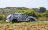 Seat Tarraco Prototype first drive 2018 on the road side