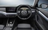 Skoda Octavia estate 2020 UK first drive review - dashboard