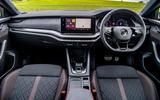 Skoda Octavia vRS Estate 2020 UK first drive review - dashboard