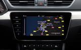 Skoda Superb iV 2020 first drive review - navigation