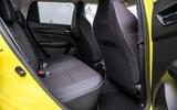 Suzuki Swift Sport 2018 review rear seat space