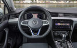 Volkswagen Passat GTE Estate 2019 first drive review - steering wheel