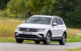 Volkswagen Tiguan eHybrid 2020 first drive review - cornering front