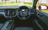 8 Volvo V60 B3 Momentum 2021 UK first drive review dashboard
