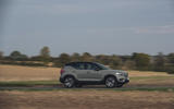 Volvo XC40 P8 Recharge 2020 UK first drive review - on the road side