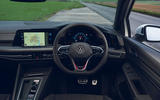 8 VW Golf GTI Clubsport 2021 UK first drive review dashboard