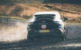 Aston Martin DBX 2020 prototype drive - cornering rear
