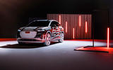 80 Audi Q4 Etron 2021 prototype drive static rear