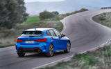 BMW 1 Series 2019 official reveal - on the road rear
