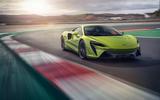 80 McLaren Artura 2021 press images track front