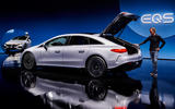 80 Mercedes EQS official reveal images GK boot
