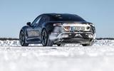 Porsche Taycan prototype ride 2019 - static rear