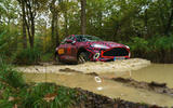 2020 Aston Martin DBX camouflaged prototype ride - off-road wade