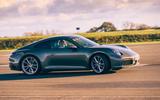 Corvette C8 vs Porsche 911 UK - Porsche track side
