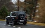 81 Land Rover Defender V8 2021 official images on road rear