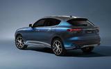 81 Maserati Levante Hybrid 2021 official images studio static rear
