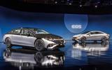 81 Mercedes EQS official reveal images pair