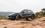 Porsche Macan prototype 2018 three wheels