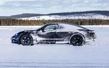 Porsche Taycan prototype ride 2019 - static side