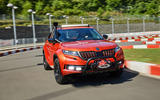 Skoda Mountiaq concept first drive review - cornering front
