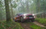2020 Aston Martin DBX camouflaged prototype ride - off-road front