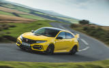 Britain's best affordable drivers car 2020 - Honda Civic Type R limited - cornering front