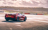 Corvette C8 vs Porsche 911 UK - Corvette track rear
