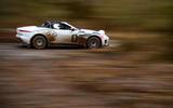 Jaguar F-Type rally car 2019 driven high speed