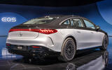 82 Mercedes EQS official reveal images two tone rear