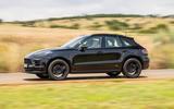 Porsche Macan prototype 2018 on the road side