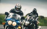 82 Suzuki at 100 Goodwin bike action