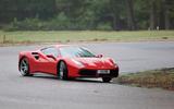 Ferrari 488 GTB rewind - cornering front