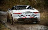Jaguar F-Type rally car 2019 driven mud rear