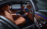 2021 Mercedes-Benz S-Class official reveal images - rear seats