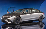 83 Mercedes EQS official reveal images two tone